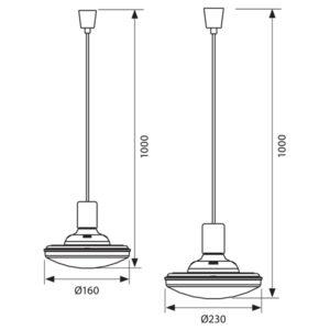 Κρεμαστό LED 14W/20W