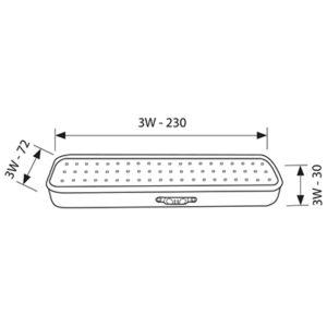 Φωτιστικό Ασφαλείας LED 3W