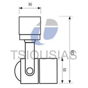 Φωτιστικό Ράγας GU10