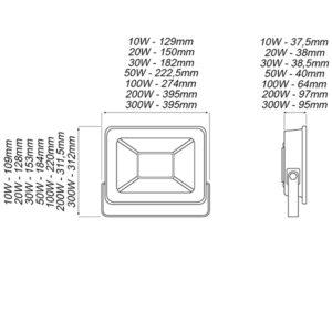 Προβολείς LED Slim 6400K