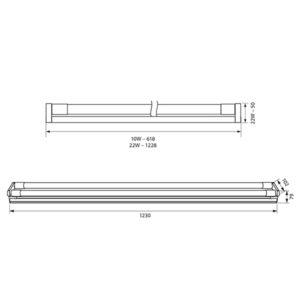 Σκαφάκια για Λαμπτήρες LED T8