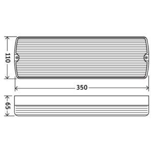 Φωτιστικό Ασφαλείας LED Στεγανό IP65 3,5W